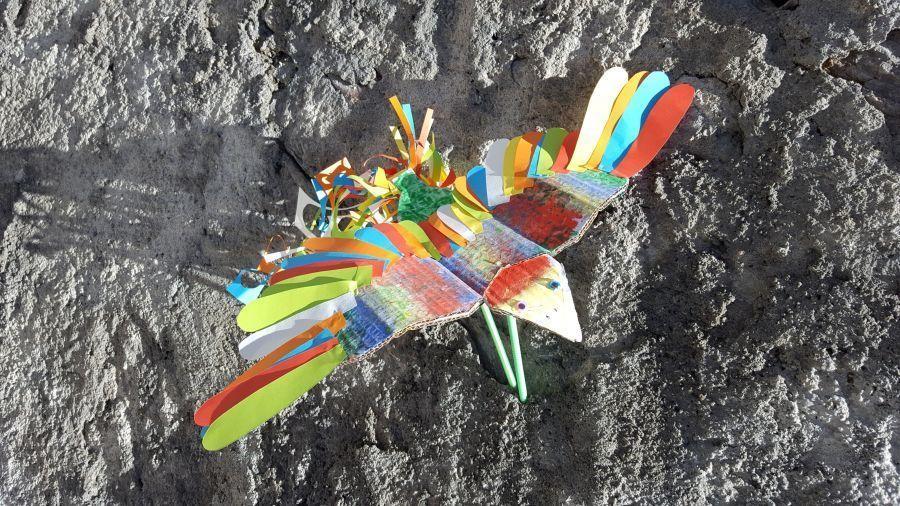 Atelier d'arts pour enfants (création d'un oiseau)