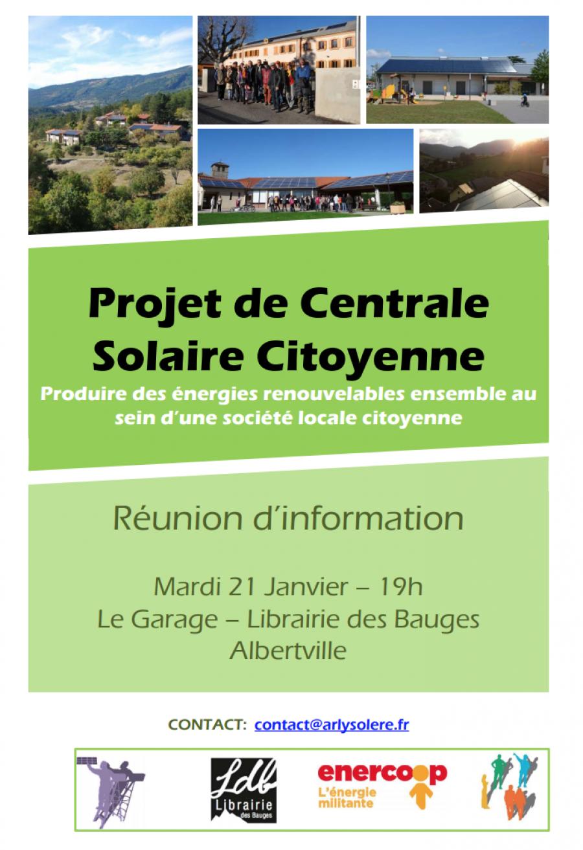 Rencontre débat : Centrale solaire citoyenne.
