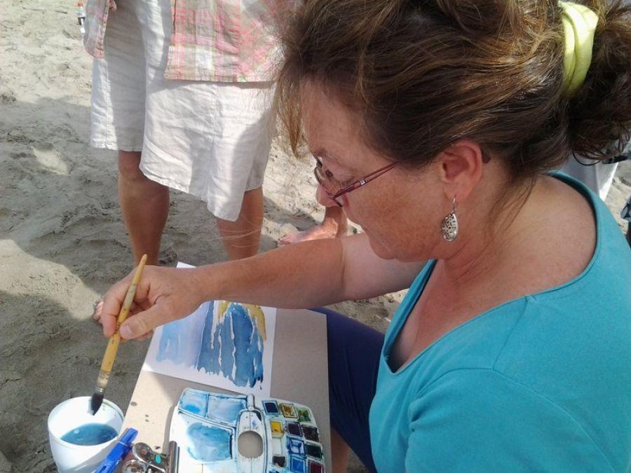 Festival du Grand Bivouac - Atelier artistique avec Brigitte Gorry