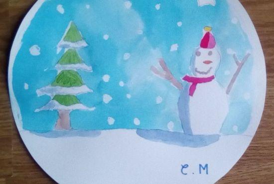 Atelier peinture : Boule à neige givrée