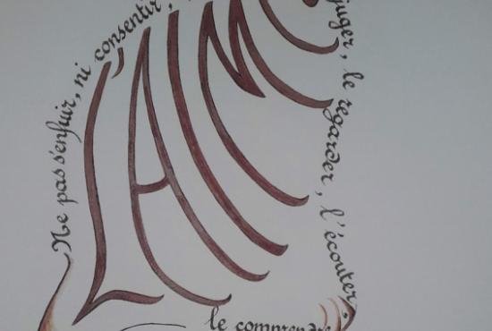 Atelier créatif : calligramme.